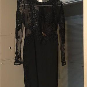 *GORGEOUS* black couture dress